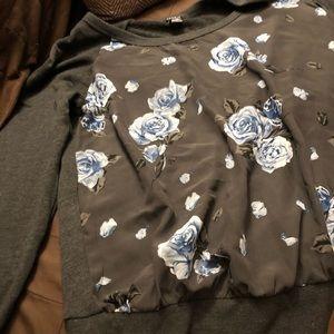 Grey dressy sweater